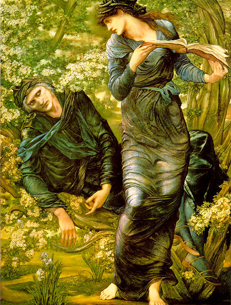 The Beguiling of Merlin (1874), by Edward Burne-Jones. Sourced from Wikimedia Commons.