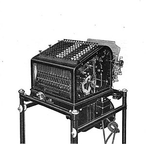 Bank number - Image: The Burroughs transit machine an adding machine that types statements with carbon copies