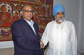 The Chief Minister of Goa, Shri Digambar Kamat meeting the Deputy Chairman, Planning Commission, Shri Montek Singh Ahluwalia to finalize Annual Plan 2010-11 of the State, in New Delhi on April 13, 2010.jpg