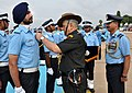 The Chief of Army Staff, General Bipin Rawat presenting the wings to the officers of Flying branch, at the Combined Graduation Parade at Air Force Academy, Dundigal, in Hyderabad on June 17, 2017.jpg