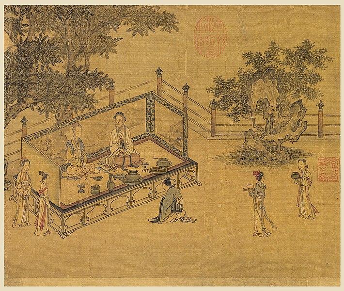 """Bức tranh """"Lòng hiếu thảo thời xưa"""" từ thời nhà Tống, tương truyền được vẽ bởi họa sĩ Ma Hezhi (nổi tiếng từ 1131–1189). Đài Bắc: Bảo tàng Cố cung Quốc gia. (Ảnh: Wikipedia)"""