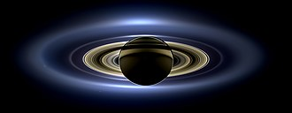The Day the Earth Smiled - Saturn in a fully processed composite of images taken by Cassini on July 19, 2013