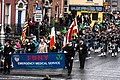 The FDNY EMS Pipes and Drums Band Took Part In The New York Parade On Sunday And Then Jetted To Dublin To March In Dublin On Sunday (8565110381).jpg