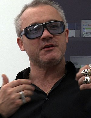 English artist Damien Hirst. Still image from ...