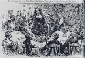 """Pop out cake - """"The Girl in the Pie"""", The World, 1895"""