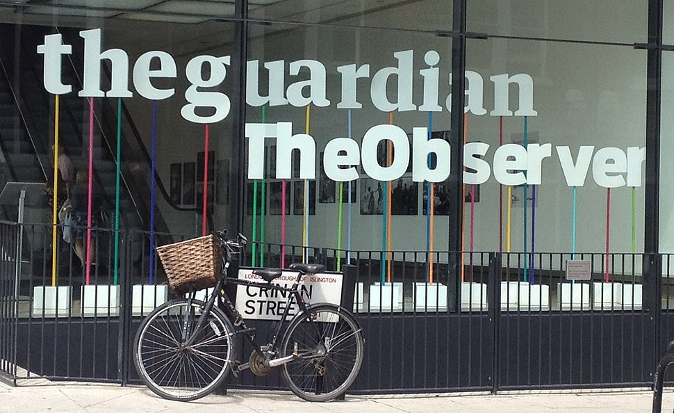 The Guardian Building Window in London