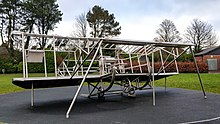 Metal replica of the Mayfly plane
