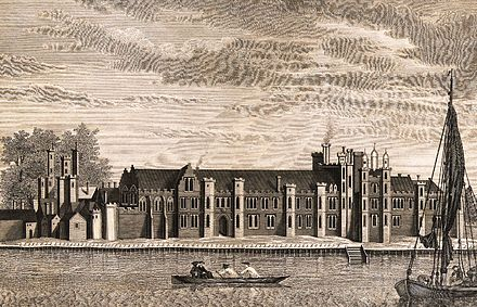 Greenwich Palace, after a 17th-century drawing The Palace of Placentia.jpg