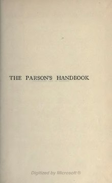 The Parson's Handbook - 6th ed.djvu