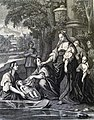 The Phillip Medhurst Picture Torah 286. Moses in the bulrushes. Exodus cap 2 vv 5-6. Caspar Luyken.jpg