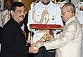 The President, Shri Pranab Mukherjee presenting the Padma Shri Award to Shri Ujjwal Deorao Nikam, at a Civil Investiture Ceremony, at Rashtrapati Bhavan, in New Delhi on April 12, 2016.jpg