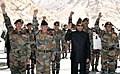 The President, Shri Ram Nath Kovind with the soldiers, during his visit to Siachen Base Camp on May 10, 2018. The Chief of Army Staff, General Bipin Rawat is also seen.JPG