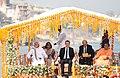 The Prime Minister, Shri Narendra Modi and the President of the French Republic, Mr. Emmanuel Macron take a boat ride on the Ganga River, in Varanasi, Uttar Pradesh (1).jpg