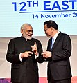 The Prime Minister, Shri Narendra Modi interacting with the Premier of China, Mr. Li Keqiang, during the 12th East Asia Summit, in Manila, Philippines on November 14, 2017.jpg