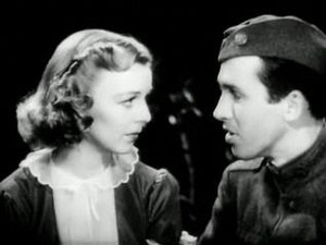 James Stewart - Stewart made four features with Margaret Sullavan, the second of which was The Shopworn Angel (1938)