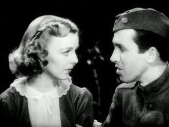 Margaret Sullavan - Sullavan and Stewart in The Shopworn Angel, 1938.