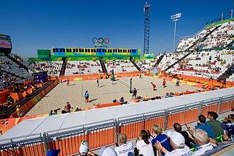 Copacabana Stadium - The Copacabana Stadium during an Olympic volleyball match