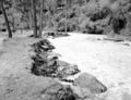 The Virgin River near Temple of Sinawava at high flood stage. Control work necessary and carried out by dumping large boulders (786b7302c3ab4a8ebb542720d66e6a11).tif