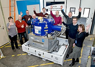 Rutherford Appleton Laboratory - The team at the ALMA project's European Front End Integration Centre at the Rutherford Appleton Laboratory, UK.