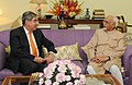 The former President of Costa Rica, Dr. Oscar Arias Sanchez calls on the Vice President, Shri Mohd. Hamid Ansari, in New Delhi on March 27, 2014.jpg