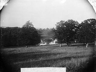 The lake, Bryngwyn, Llanfyllin