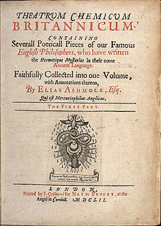 <i>Theatrum Chemicum Britannicum</i> book by Elias Ashmole