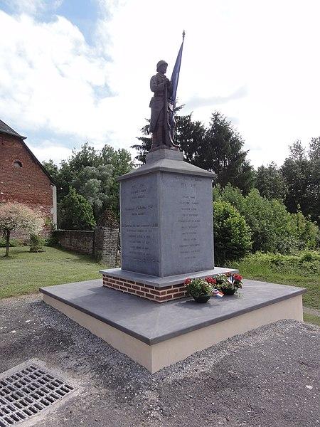 Thenailles (Aisne) monument aux morts