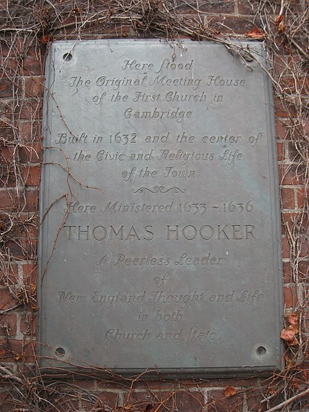 File:Thomas Hooker plaque, Cambridge - IMG 2950.JPG