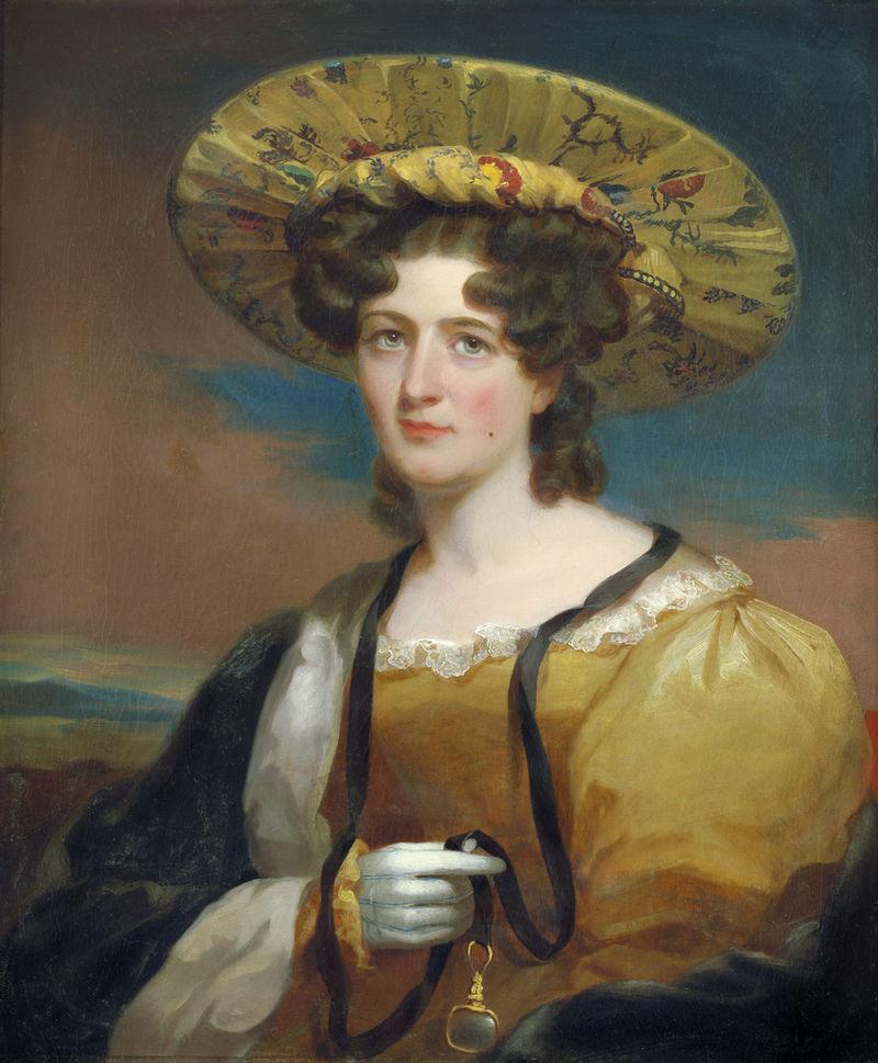 Thomas Sully Bildnis der Alwina Agnes Clementine Bohlen mit exotischem Seidenhut.jpg