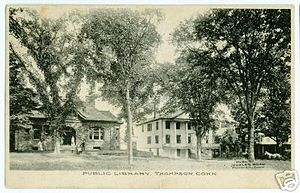 Thompson, Connecticut - Public Library, circa 1908