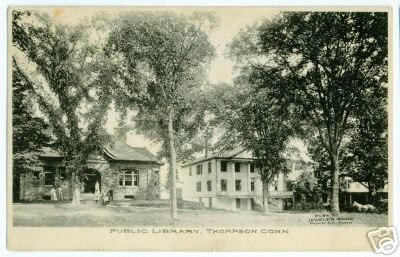 Thompson, Connecticut Public Library 1908 postcard