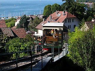 Funiculaire de Thonon-les-Bains funicular railway in the spa town of Thonon-les-Bains, in the French département of Haute-Savoie