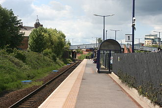 Thornaby railway station - Platform 1 looking west