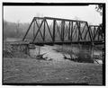 Three-fourths view of span 1 - Bridge No. 33.3, Spanning Elk River at Milepost JC-33.3, Fayetteville, Lincoln County, TN HAER TN-42-3.tif