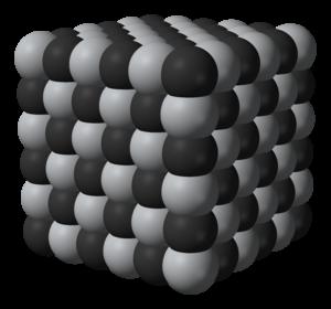 Carbide - Lattice structure of titanium carbide.