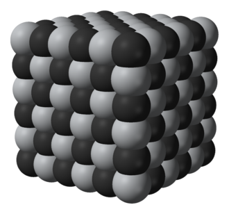 Carbide - Lattice structure of titanium carbide.