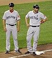 Tim Bogar and Jason Varitek.jpg