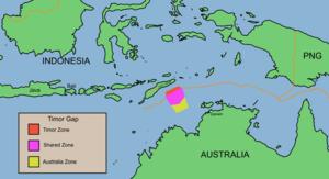 Australia–Indonesia border - the Timor Gap