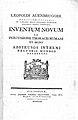 Title page; Inventum novum ex percussione... Wellcome L0000116.jpg