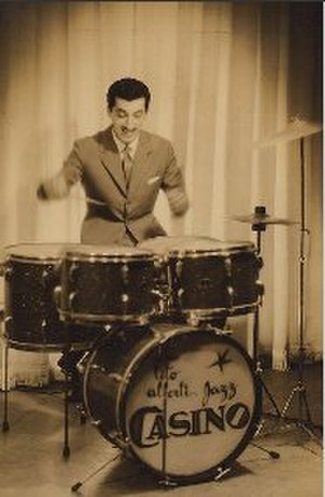 Tito Alberti - Jazz drummer Tito Alberti with his Jazz Casino, circa 1955.