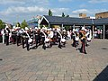 Tiverton , Royal Marine Band at Tiverton Market - geograph.org.uk - 1272114.jpg