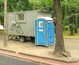 Public toilet, toitoi, Poland