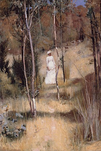 Box Hill artists' camp - Image: Tom Roberts A Summer Morning Tiff