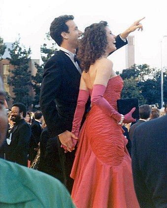 Hanks And Wife Rita Wilson At The 1989 Oscars