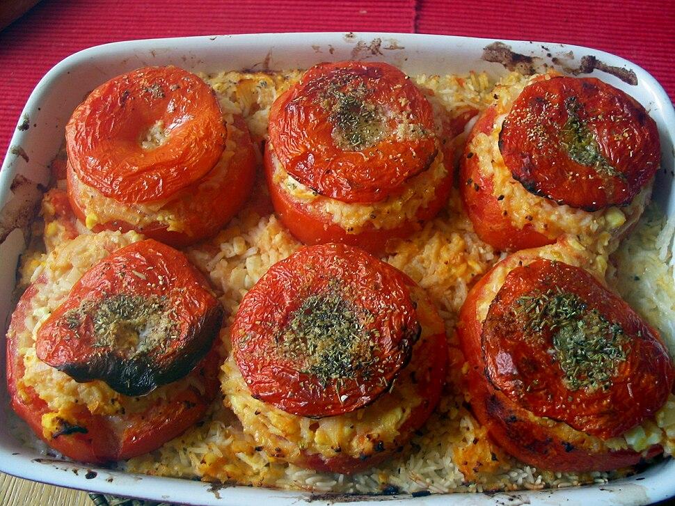Tomates farcies v%C3%A9g%C3%A9tariennes