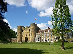 Tonbridge Castle, from South East.JPG
