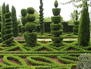 Topiary in the Botanical Garden of Funchal, is...