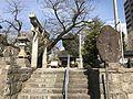 Torii of Hiyoshi Shrine near Kurume Station.jpg