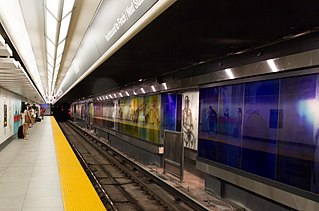 Line 1 Yonge–University Subway line in Toronto, Ontario, Canada