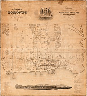 Old Toronto - Image: Toronto Cane map 1842